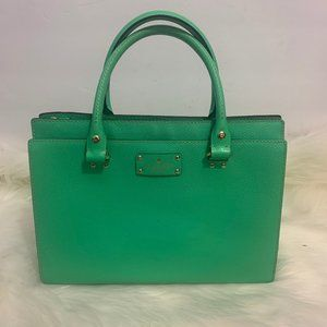 Kate Spade Structured Leather Bag Purse Green